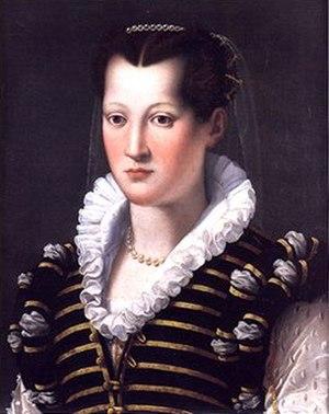 Isabella de' Medici - Isabella de' Medici in her mid-20s, by Alessandro Allori, Uffizi, Florence.