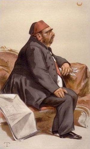 "Isma'il Pasha - ""The ex-Khedive"" As depicted by Théobald Chartran in Vanity Fair, May 1881"