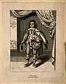 Israel, a man with a figure protruding from his chest. Line Wellcome V0007150.jpg