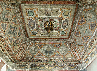 Nymphaeum - Ceiling of the 17th-century nymphaeum of the Saint-Sulpice Seminary in Issy-les-Moulineaux, France.