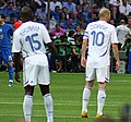 Italy vs France - FIFA World Cup 2006 final - Lilian Thuram and Zinedine Zidane.jpg