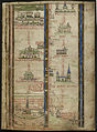 Itinerary by Matthew Paris - Historia Anglorum (1250-1259), f.2 - BL Royal MS 14 C VII.jpg