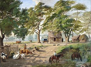 Carl G. von Iwonski - Log Cabin, New Braunfels