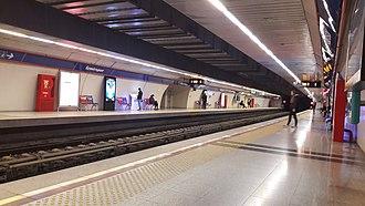 İzmir Metro - İzmirspor station of the İzmir Metro