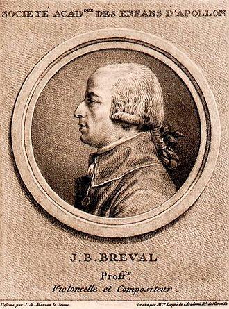 Jean-Baptiste Bréval - Jean-Baptiste Bréval, ca. 1790, Bibliothèque nationale de France.