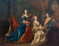 J.P. von der Schlichten - Elisabeth Augusta of Sulzbach and her two sisters - Reiss Engelhorn Museum.png