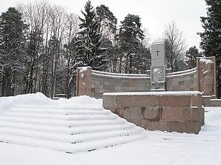Forest Cemetery, Riga cemetery in Riga, Latvia