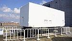 JASDF Nike-J radar control trailer left front view at Hamamatsu Air Base Publication Center November 24, 2014.jpg