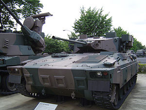 Mitsubishi Type 89 IFV - A Type 89 prototype at the JGSDF public information center.