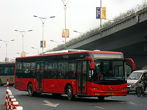 Jinhua - A bus made by the local Jinhua Youngman Vehicle factory.