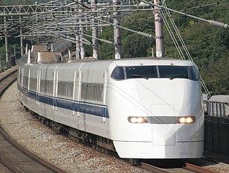 300 Series Shinkansen - JR-West 300-3000 series trainset on the Sanyō Shinkansen, October 2008