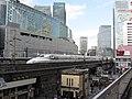 JR Central Shinkansen N700 Series passes Yūrakuchō, Tokyo, Japan 17 03 20 (49668468603).jpg