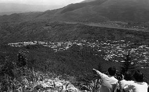 Jakaltek people - View of Jacaltenango and San Marcos beyond.