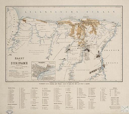 Jacob Kuyper - Kaart van Suriname