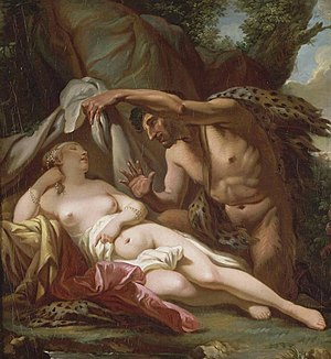 Jupiter and Antiope (David) - Jupiter and Antiope