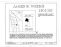 James B. Weeks House, 26 Pearl Street, Kingston, Ulster County, NY HABS NY,56-KING,26- (sheet 1 of 9).png