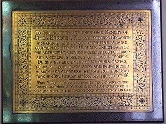 Edgworth - Image: James Barlow Memorial