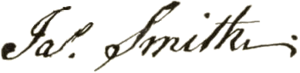 James Smith (delegate) - Image: James Smith signature