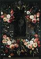 Jan van Kessel de Oude - Volants van tulpen, rozen, lelies, anjers, hyacinthen, korenbloemen, etc.jpg