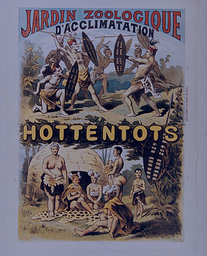Jardin d'Acclimatation - Poster for an anthropological exhibition