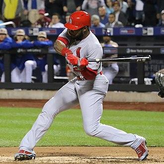Jason Heyward - Heyward batting for the St. Louis Cardinals in 2015
