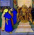 Jean Fouquet- The Coronation of Alexander, from the book Histoire Ancienne-detail.JPG