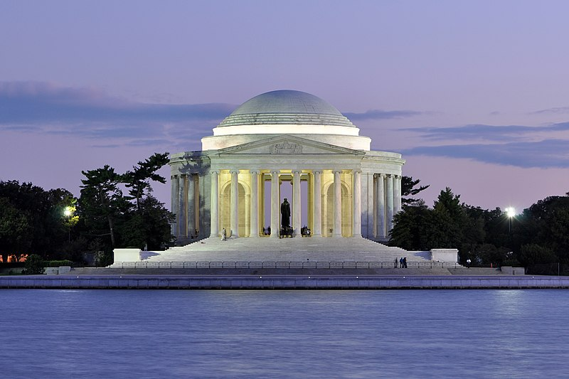 File:Jefferson Memorial At Dusk 1.jpg
