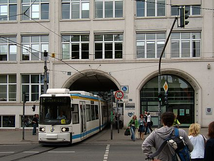 A tram in the city centre JenaStraB.jpg