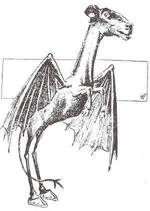 English: Jersey Devil strip from 1909 Français...