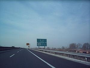 Beijing–Zhangjiakou Expressway - Jingzhang Expressway (Beijing section, January 2005 image)