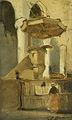 Johannes Bosboom - De preekstoel van de kerk te Hoorn.jpg