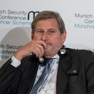 Johannes Hahn - Hahn during the Munich Security Conference 2018