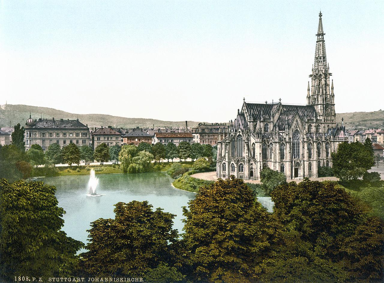 File:Johanniskirche_Stuttgart_1900 on Color By Number Division