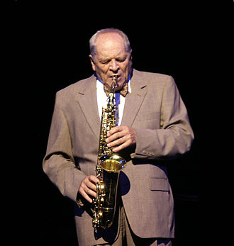 1927 in jazz - John Dankworth at Buxton Opera House on 4 November 2002, while in concert with Cleo Laine.
