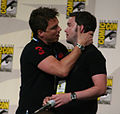John Barrowman Gareth David-Lloyd Kiss.jpg