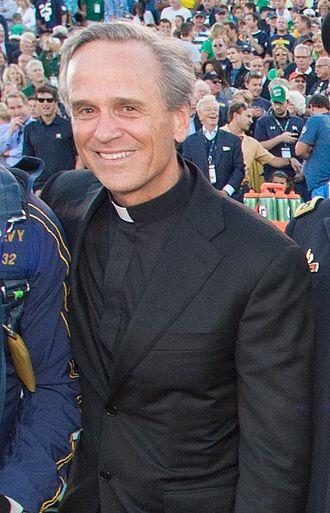 John I. Jenkins - Jenkins at Notre Dame Stadium