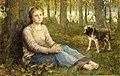 John Macallan Swan - A Shepherdess and her Flock (1878).jpg
