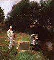 John Singer Sargent - Dennis Miller Bunker Painting at Calcot.jpg