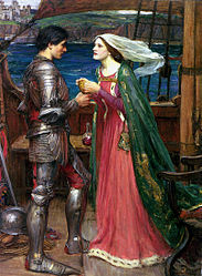 John William Waterhouse: Tristan and Isolde with the Potion