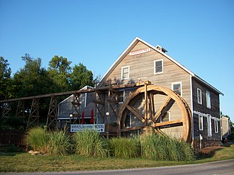 Johnson House and Mill - Johnson Mill building adjacent to Johnson Mill Rd