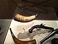 Jonathan Gardner Powder horn 1776 at the Concord Mass Museum.JPG