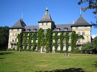 Alnarp Castle building in Lomma Municipality, Skåne County, Sweden