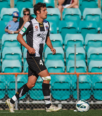 Josh Mitchell - Mitchell playing for Newcastle Jets in 2012