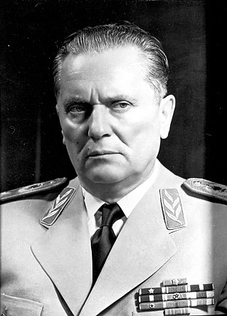 Josip Broz Tito uniform portrait