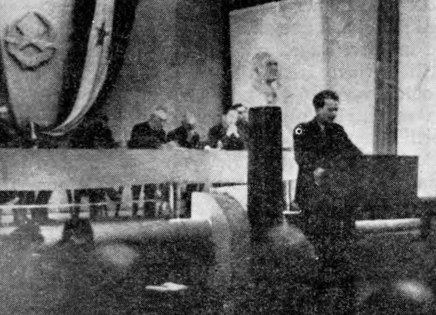 Josip Vidmar govori na II. zasedanju AVNOJ v Jajcu