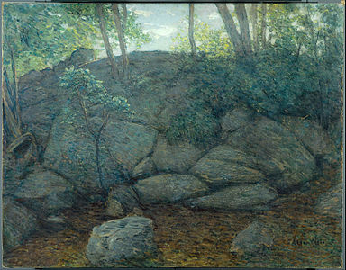 Julian Alden Weir - Woodland Rocks - Google Art Project.jpg