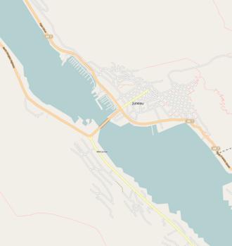 Juneau–Douglas Bridge - Image: Juneau map
