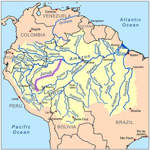Juruá River - Image: Juruarivermap