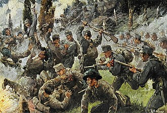 Battles of the Isonzo - Depiction of the Battle of Doberdò.