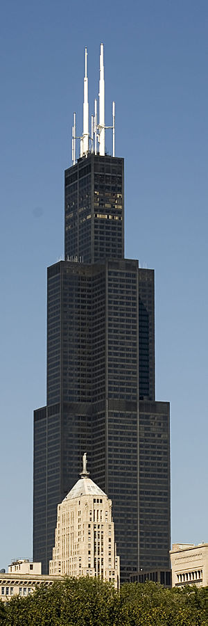 The Sears Tower, as seen from the east along L...